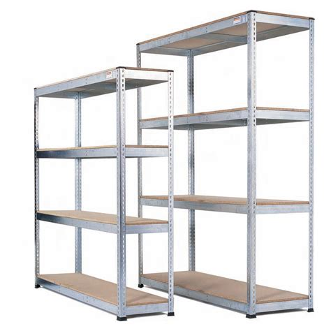 galvanised heavy duty warehouse shelving with chipboard