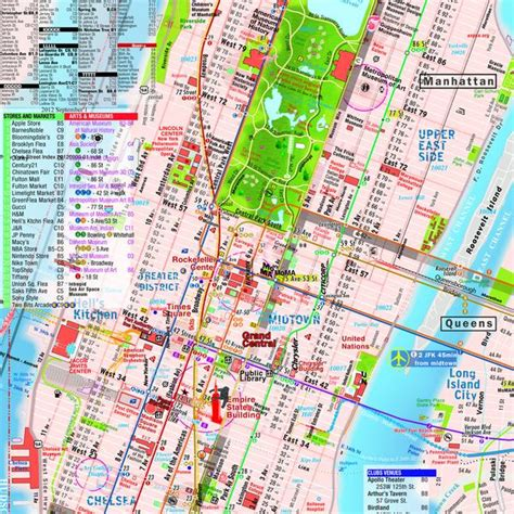 map downtown nyc map laminated manhattan downtown midtown maps pocket new