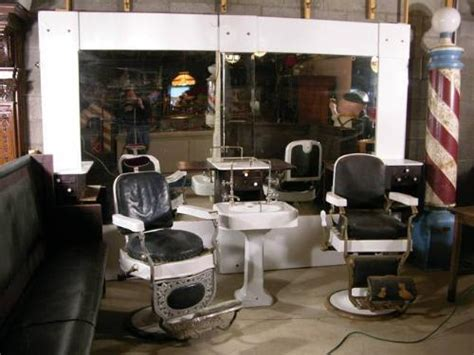 shoo sink and chair 1920 s barber shop w 2 chairs and sink