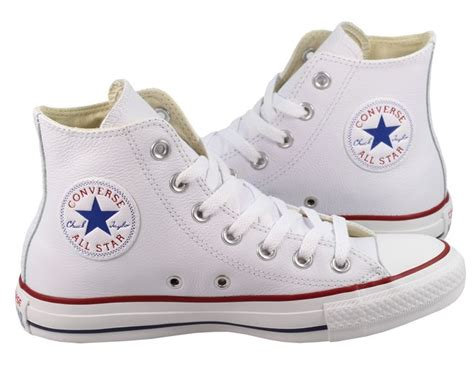 converse womens trainers white original leather high tops