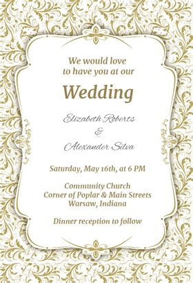 wedding invitations templates free free wedding invitation templates weddingwoow