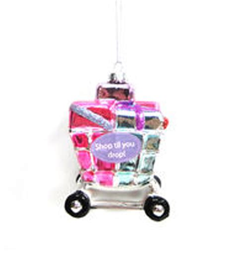 holiday cheer shopping cart ornament