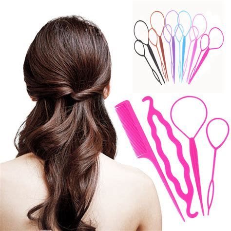 Hairstyles Accessories Bun Tool by 4 Pcs Hair Twist Styling Clip Stick Bun Donut Maker Braid