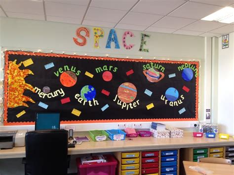 classroom themes ks2 space planets display classroom display class display