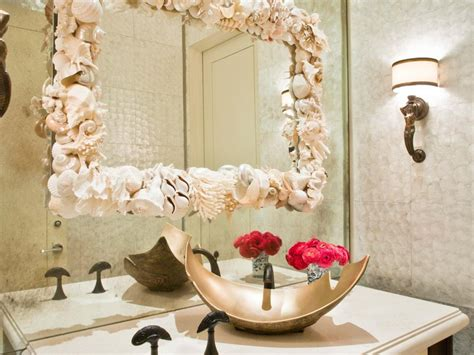 shell bathroom mirror seashell bathroom mirror home design ideas