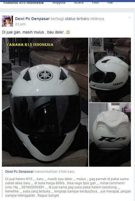 Helm R15 Helm Standar Pembelian Yamaha Yzf R15 Dijual Rp 800 Sama