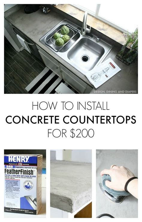 concrete countertops countertops and kitchen cost on