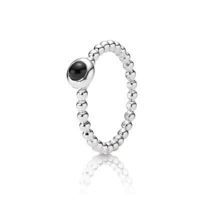 Pandora Clear Cz And Black Onyx Dew Drops Charm Silver P 489 pandora rings black onyx