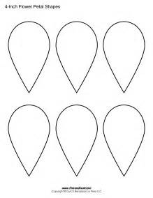 Free Flower Template Printable by Printable Flower Petal Templates For Paper Flowers