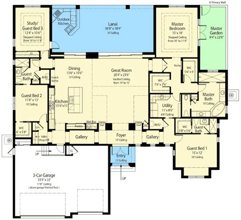 energy smart house plan with rear lanai 33147zr