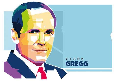 clark gregg face clark gregg wpap portrait vector download free vector