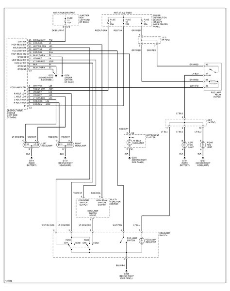1999 dodge dakota headlight switch wiring diagram