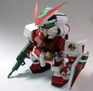 Gundam Bb 248 Gundam Astray sd gundam astray papercraft mbf p02 frame