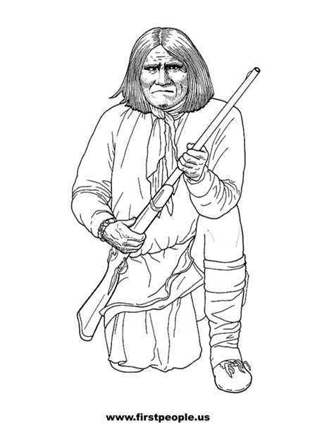 creek indian coloring page free printable native american clipart 32
