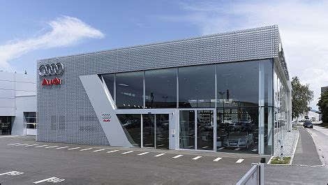 audi dealership design progress in design audi redefines dealership architecture