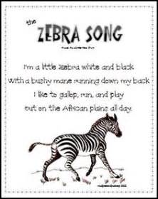 Letter Zebra Lyrics Songs Poems And Finger Play For Toddlers Preschool Printables By Gwyn 11