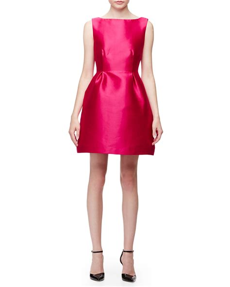 dress pink fit l lyst kate spade new york sleeveless open back fit