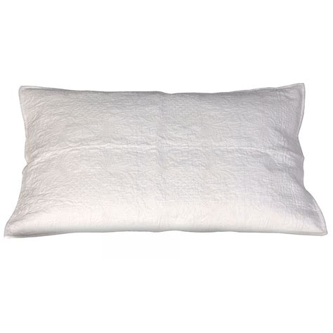 White Quilted Pillow Shams by Pretty And Stylish Luxury Cushions Bedroom Company