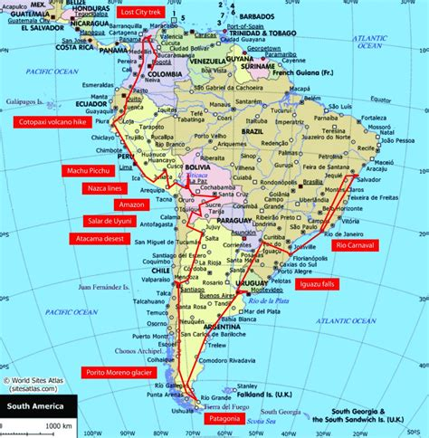 america route map south america route which way to go beyond blighty