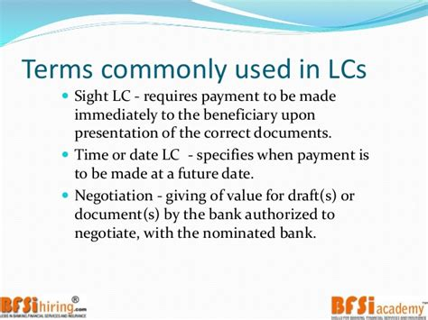 Letter Of Credit At Sight By Negotiation Trade Finance Letter Of Credit