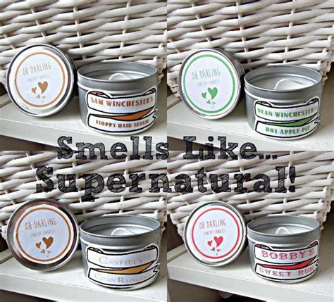 gifts for supernatural supernatural themed candle gift set 1 sam winchester s