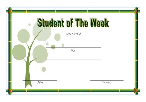 student of the week template student of the week template 6 best 10 templates