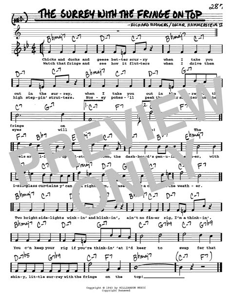 The Surrey With The Fringe On Top sheet music by Rodgers