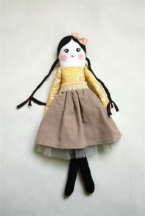 Handmade Cloth Dolls - handmade rag doll cloth doll vintage style doll soft doll