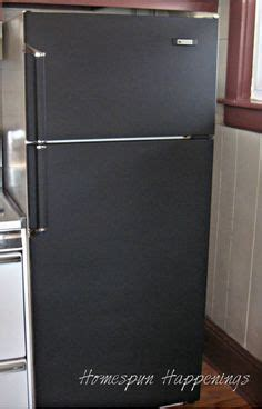 chalkboard paint on stainless steel fridge 1000 images about refrigerator painting decor techniques