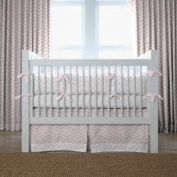 pink chevron and dots crib bedding carousel designs