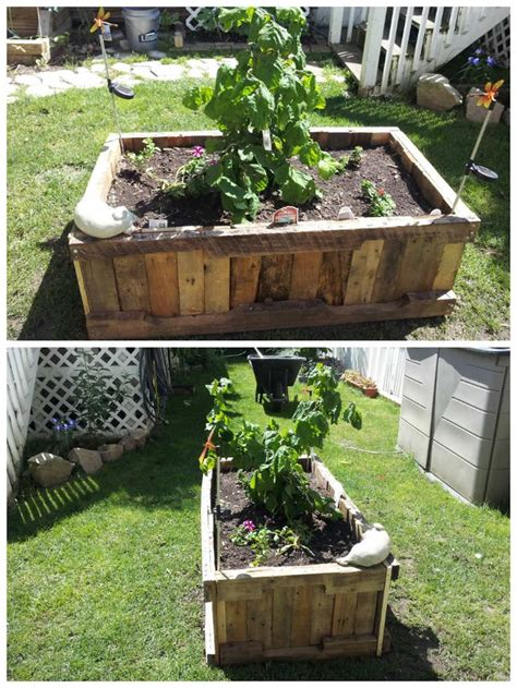 Garden Planter Boxes Ideas Pallet Raised Planter Pallet Ideas Gardens Planters And Pallets