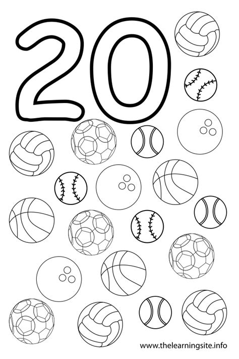 Numbers 0 20 Coloring Pages by Number 20 Coloring Page Get Coloring Pages