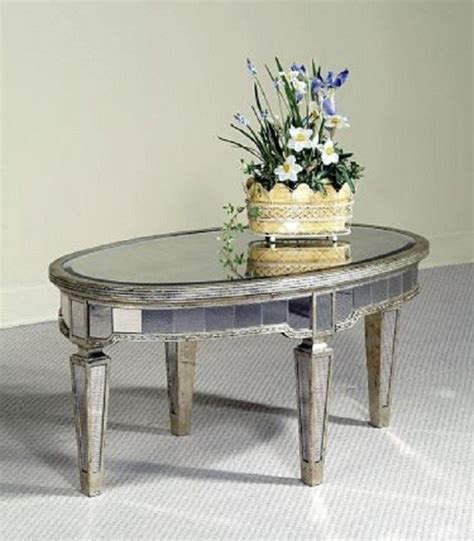 Borghese Mirrored Coffee Table Bassett Mirror Borghese Oval Cocktail Table 8311 141