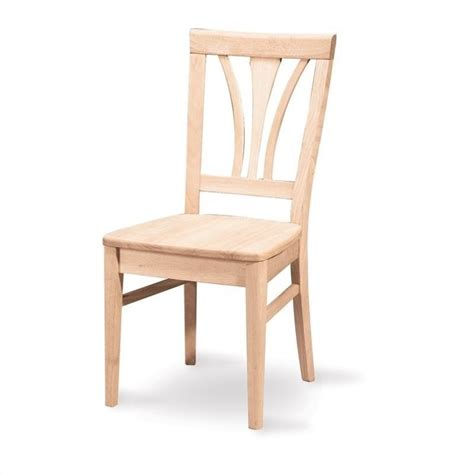 white unfinished fanback dining chair set of 2 c 918p