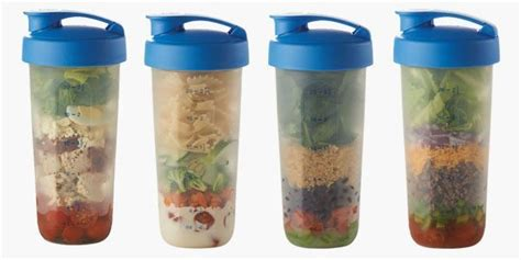 Shake Tupperware 4 salads in a shake