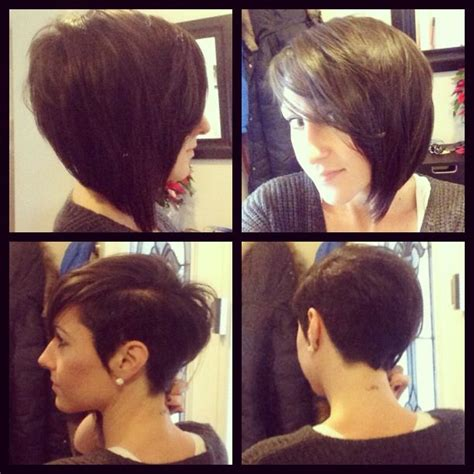 steep asymetrical side shave bob haircuts ladies side shaved bob google search hair pinterest