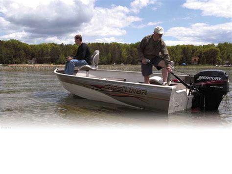 crestliner deck boats for sale used 2006 used crestliner angler 1600 tiller freshwater fishing