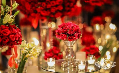 absolutely neat maharaja themed wedding drenched  red