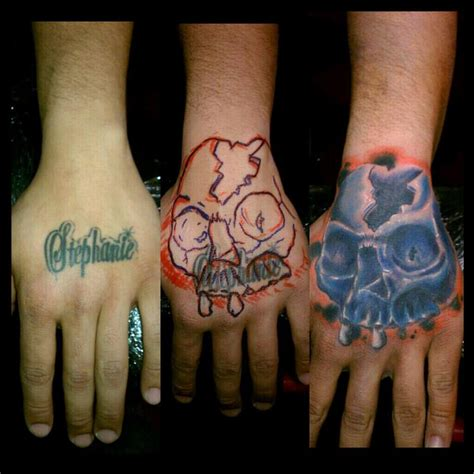 Tattoo Cover Up On Hand | free hand cover up by bobby cimorelli tattoonow