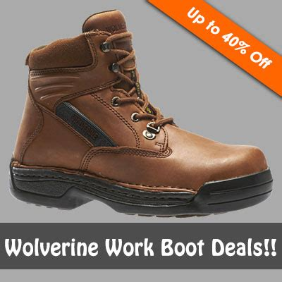 work boots coupon wolverine work boot deals up to 40