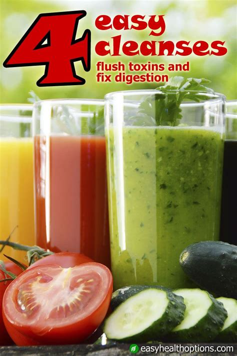 How To Detox Immediately by 4 Easy Cleanses Flush Toxins And Fix Digestion Health