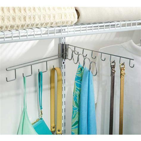 Wire Closet Accessories Swinging Wire Closet Accessory Organizer In Scarf Hangers