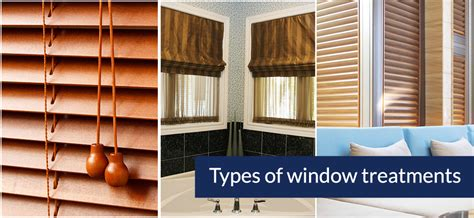 types of window coverings types of window treatments
