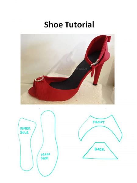 fondant shoes template modelling paste shoe cakecentral