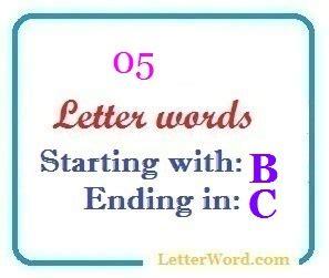 5 Letter Words Ending In C
