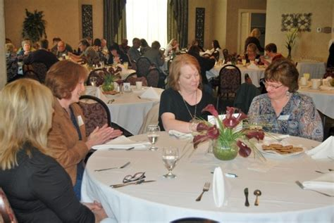 funeral home welcomes church workers for luncheon crown