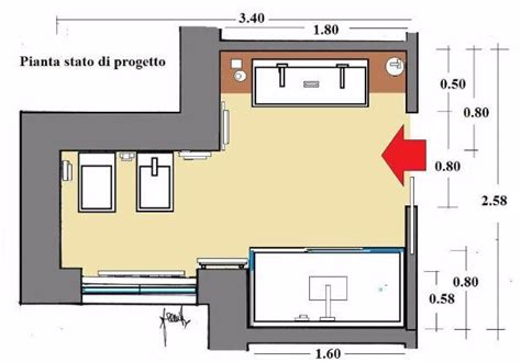 Progetto Piccolo Bagno by Progettare Un Bagno