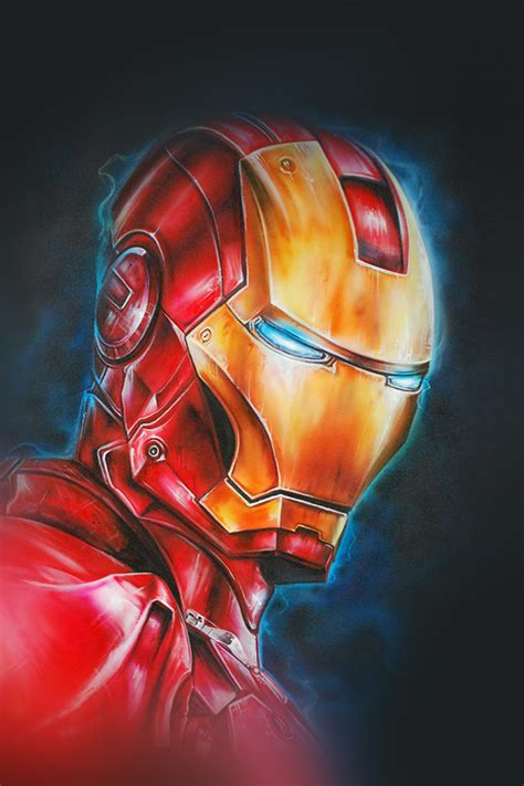 wallpaper anime hd portrait freeios7 ironman portrait parallax hd iphone ipad