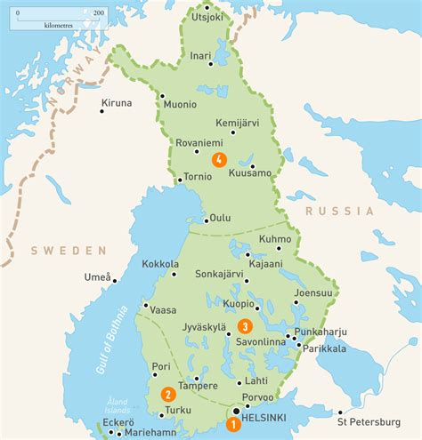 Finder Finland Map Of Finland Finland Regions Guides Guides