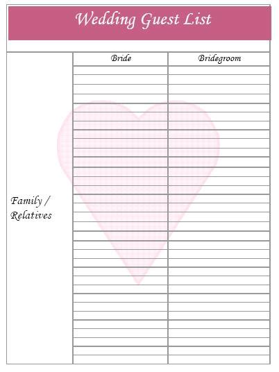 Printable Wedding Planner Sheets Free Printable Wedding Planner Templates